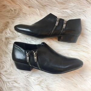 Nine West Ankle Booties Double Side Zippers EUC